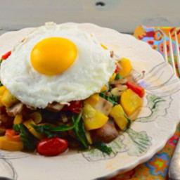 Paleo Breakfast Veggie Hash With Eggs