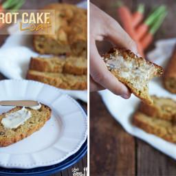 Paleo Carrot Cake Loaf