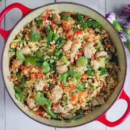 Paleo Cauliflower Pork Fried Rice