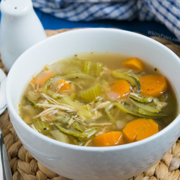 Paleo Chicken Zucchini Noodle Slow Cooker Soup