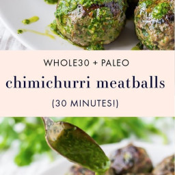Paleo Chimichurri Whole30 Meatballs!!!