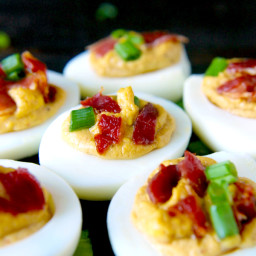 Paleo Chipotle Bacon Deviled Eggs