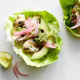 Paleo Fish Tacos with Pineapple Cilantro Salsa