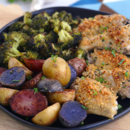 Paleo Garlic Chicken Wings with Broccoli and Baby Potatoes