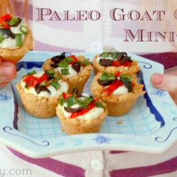 Paleo Goat Cheese Mini Tarts