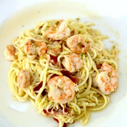 Paleo Noodles with Shrimp and Bacon