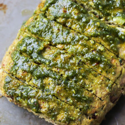 Paleo Pesto Turkey Meatloaf [ Whole30 ]