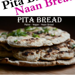 Paleo Pita-Tortilla-Naan Bread (vegan, starch-free)
