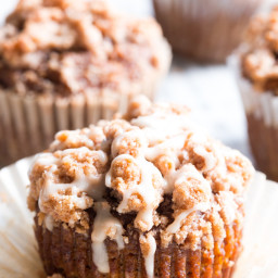 Paleo Pumpkin Muffins with Cinnamon Streusel
