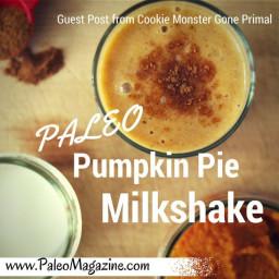Paleo Pumpkin Pie Milkshake Recipe – Guest Post from Cookie Monster Gone Pa
