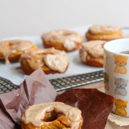 Paleo Pumpkin Spice Donuts with Maple Frosting