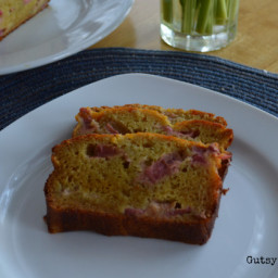 Paleo Rhubarb Bread (Grain Free, Dairy Free, Nut Free)