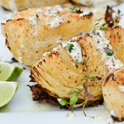 Paleo Roasted Cabbage with Mustard Seed Dressing