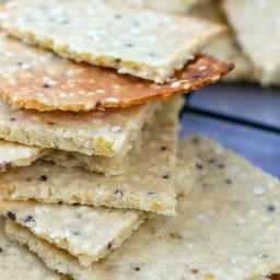Paleo Tahini and Wholegrain Mustard Crackers