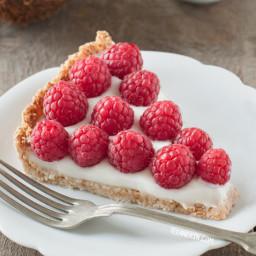 Paleo Vegan Raspberry Coconut Tart