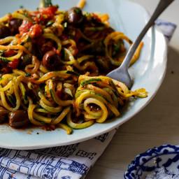 Paleo Zoodle Puttanesca Recipe