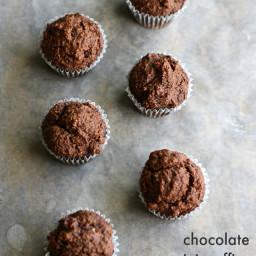 Paleo and Vegan Chocolate Mini Muffins.
