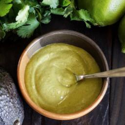 Paleo Avocado-Cilantro-Lime Sauce Recipe