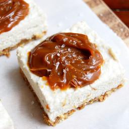 "Paleo Salted Caramel ""Cheesecake"" Bars"