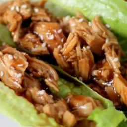 Paleo Slow Cooker Chicken Teriyaki Lettuce Wraps