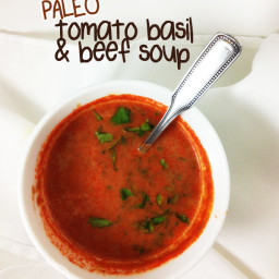 Paleo Tomato Basil and Beef Soup