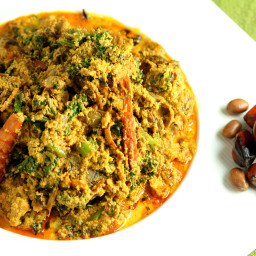 Palm Nut and Calabash Nutmeg Egusi Soup