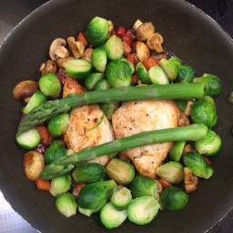 Pan Fried Chicken with Spring Vegetables