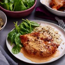 Pan-fried paprika chicken