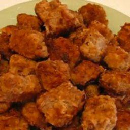 Pan-fried Round Steak Nuggets