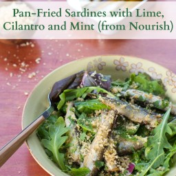 Pan-Fried Sardines with Lime, Cilantro and Mint
