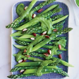 Pan-Roasted Asparagus in Asparagus Sauce