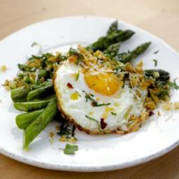 Pan Roasted Asparagus with Crispy Fried Egg