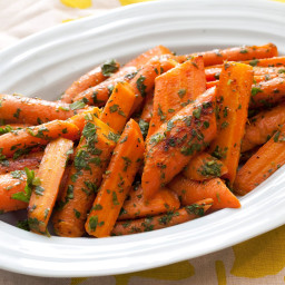 Pan-Roasted Carrots with Mint and Parsley Gremolata