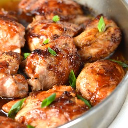 Pan Roasted Maple Soy Glazed Chicken