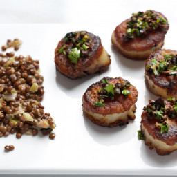 Pan-Roasted Scallops With Gremolata