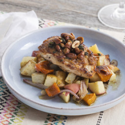 Pan-Seared Chickenwith Roasted Honeynut Squash and Apple