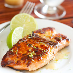 Pan Seared Honey Glazed Salmon with Browned Butter Lime Sauce – The Best Sa