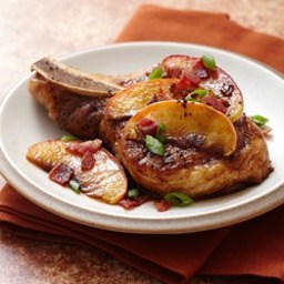 Pan Seared Pork Chops & Brown Sugar Glaze