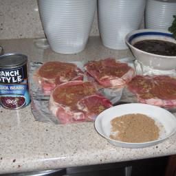 Pan Seared Pork Chops with Black Bean Salsa