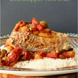 Pan-seared Red Snapper in Vera cruz style