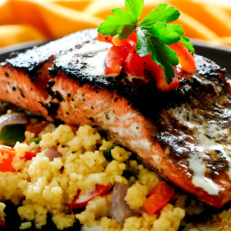 Pan Seared Salmon with Couscous