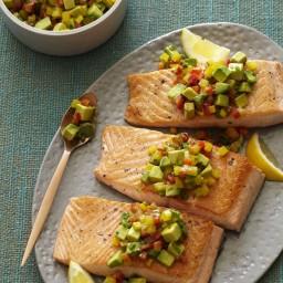 Pan Seared Salmon with Relish
