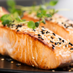 Pan-Seared Salmon with Sesame Seed Crust