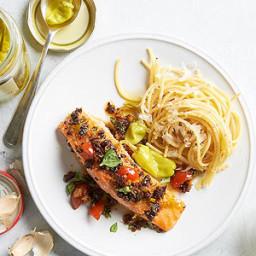 Pan-Seared Salmon with Tomato Pesto
