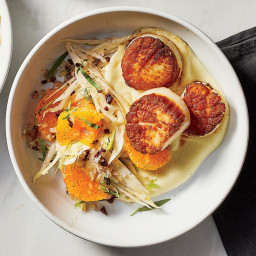 Pan-Seared Scallops With Fennel and Citrus