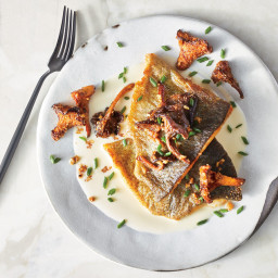 Pan-Seared Trout with Green Garlic and Crunchy Chanterelles
