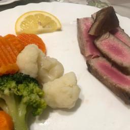 Pan Seared Tuna Steak