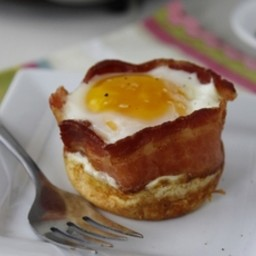 Pancake Bacon and Egg Cups
