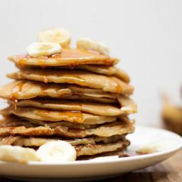 Pancakes de plátano y caramelo
