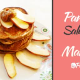 Pancakes saludables de Manzana con Harina de Batata